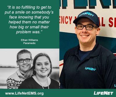 Ethan Williams, Paramedic, LifeNet EMS, Clarksville, TX