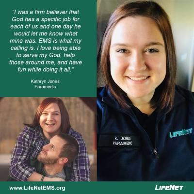 Kathryn Jones, Paramedic, LifeNet EMS, Hot Springs, AR