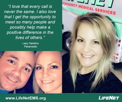 Lacy Hankins, Paramedic, LifeNet EMS, Hot Springs, AR