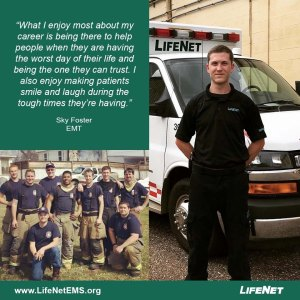 Sky Foster is an EMT for LifeNet EMS in Texarkana, Texas.