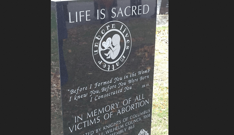 New Gravestone Helps People Remember the Millions of Babies Killed in Abortions