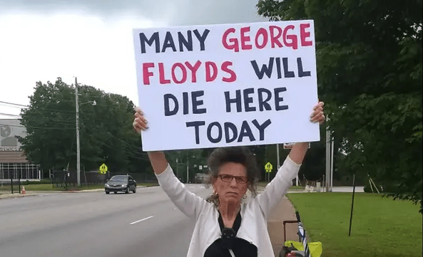 "Woman Protests How Abortion Clinic Kills Black Babies: ""Many George Floyds Will Die Here Today"""