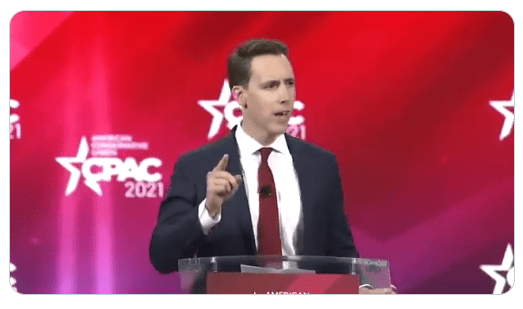 """Senator Josh Hawley: """"Our Rights Come From God, Not Google"""""""