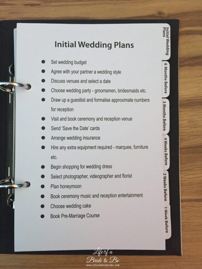 Inside of the Wedding Planner