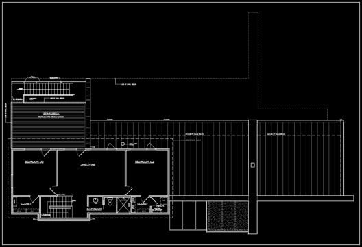 Weekend House Upper Level Plan