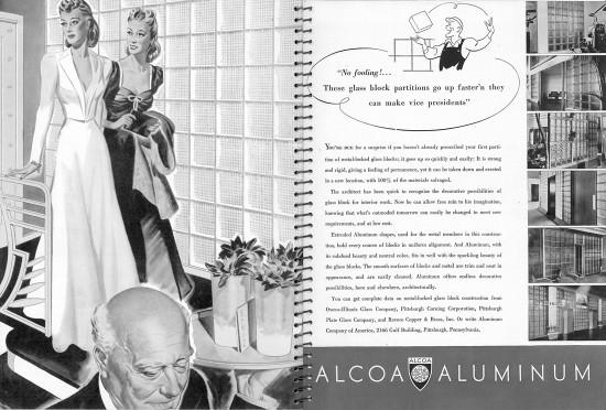 Alcoa Aluminum Glass Block Ad Architectural Forum Magazine
