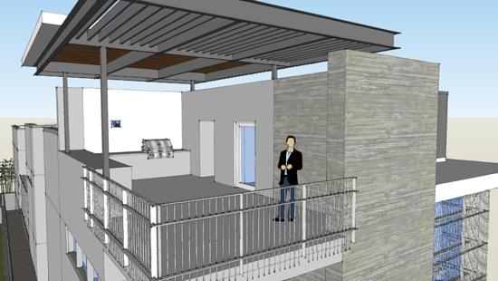 Modern House Deck Mosaic