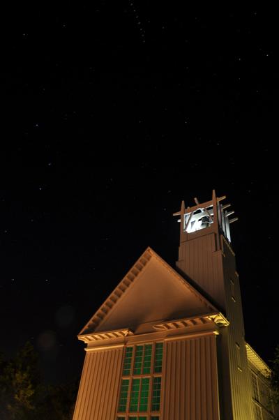 Seaside Chapel night sky