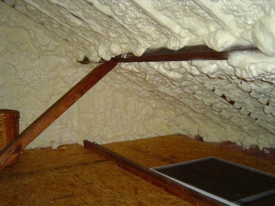 insulation spray foam roof line