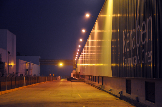Keraben factory at night