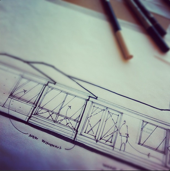 Hand Sketch on Instagram by Dallas Architect Bob Borson