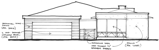 Hand sketch North Elevation