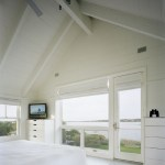 Painted white wood ceilings