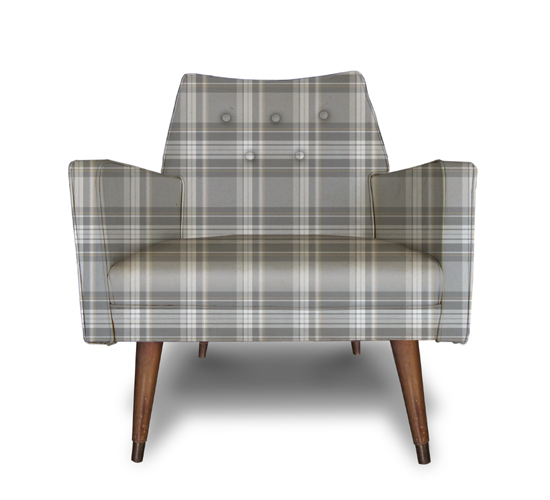 Grey Plaid chair