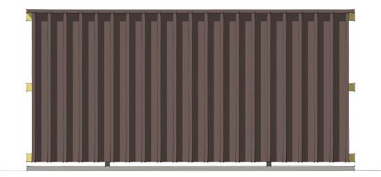 Modern Fence 3d front elevation