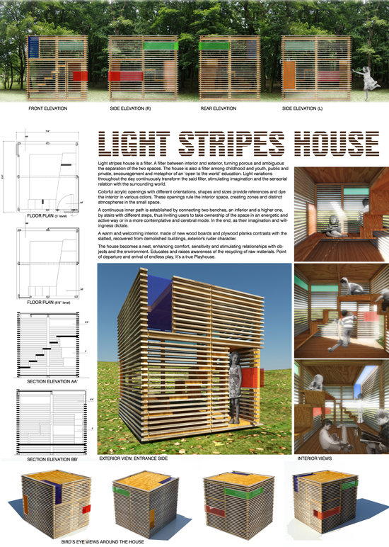 Light Stripes House by Henrique Barros-Gomez