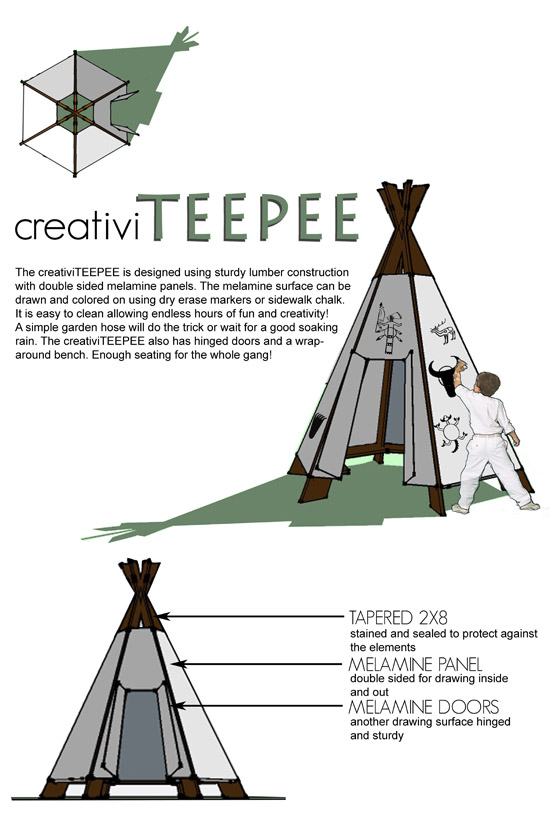 Creativi TeePee by Lexie Lowers