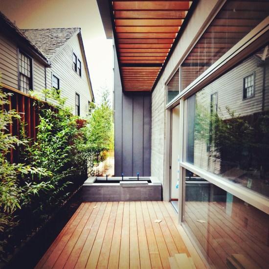 modern project - side yard secret garden