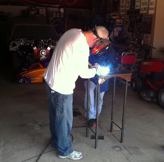 Bob Borson Dallas architect welding