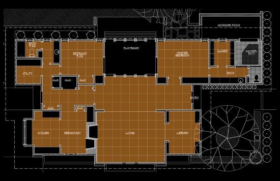 An Architects House - concrete floor scope plan