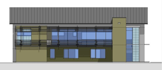 Side Elevation in SketchUp