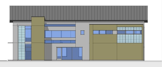 Side Elevation alternate scheme in SketchUp