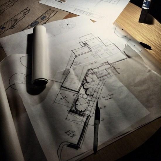 architect's sketch paper