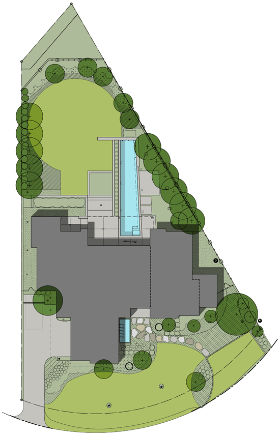 Horse Shoe Trail Preston Hollow Residence rendered site plan