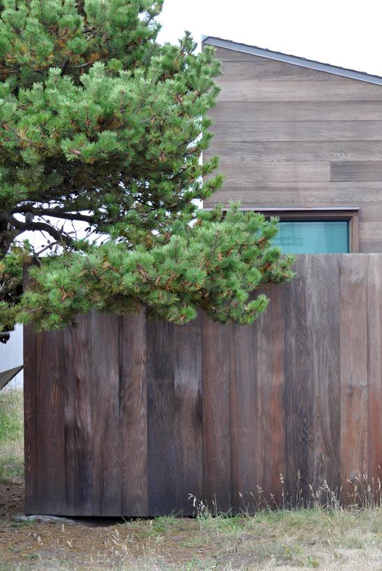 beautiful redwood fence
