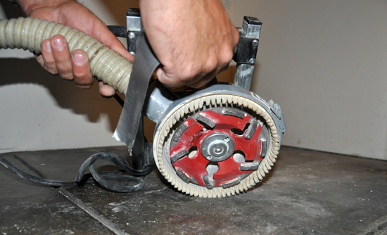 Concrete Grinding - hand equipment