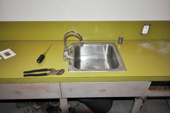 countertop and sink demolition