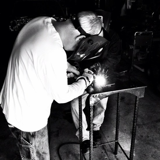Welding Lessons for Christmas 2012