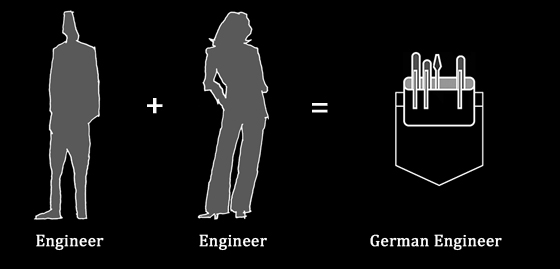 German Engineer baby