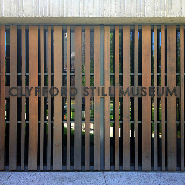 Clyfford Still Museum Entry Sign