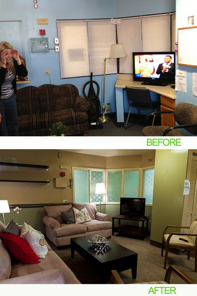 "AEC Cares Denver 2012 - Before and After ""Women's Lounge"""