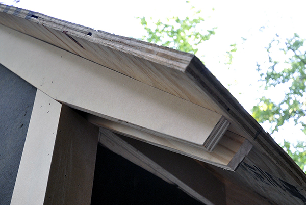 MDO trim boards used for exposed roof framing