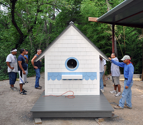 Bird Playhouse designed by Dallas Architect Bob Borson