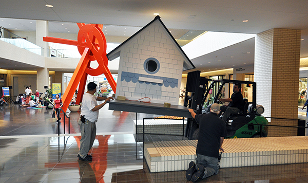 Bird Playhouse designed by Dallas Architect Bob Borson in NorthPark Mall