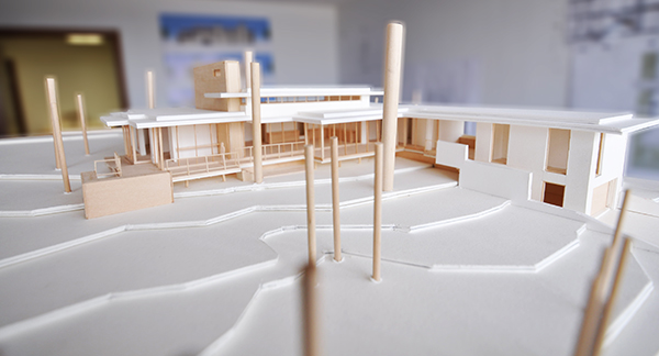 Architectural Model - North West Elevation