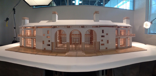iPhone panorama photo of the architectural model