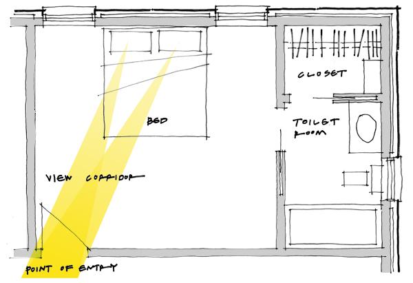 Hatchet bedroom - good layout