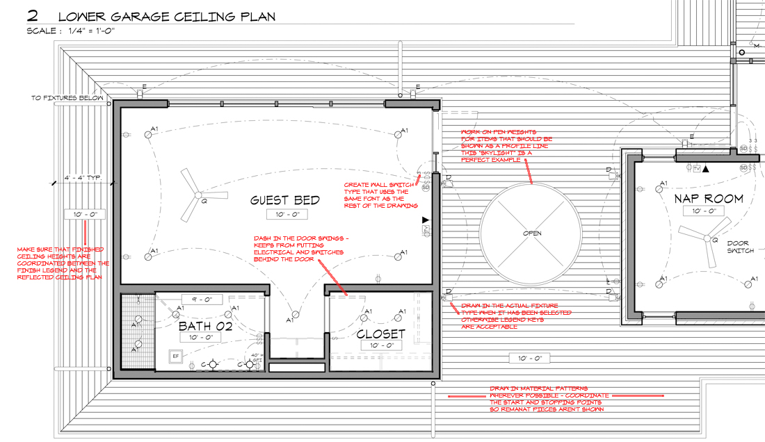 KHouse Modern Graphic Standards Reflected Ceiling Plan