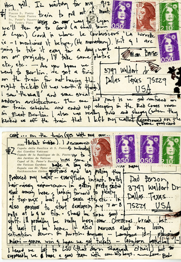 Architecture Student Bob Borson - Postcards from Europe