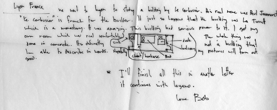 Letters from an Architecture Student