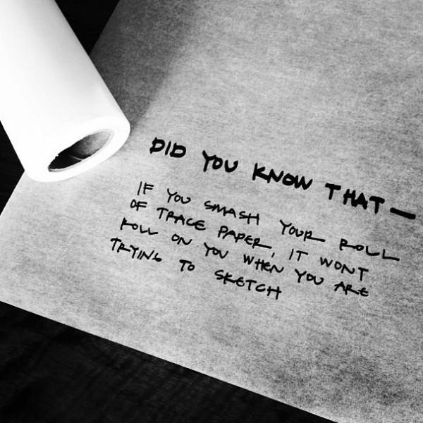 architect's trace paper trick