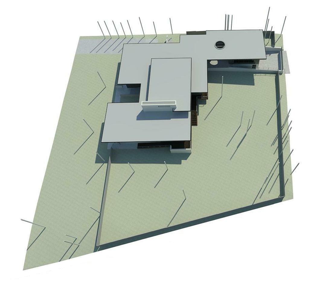 KHouse Modern BIM Site Plan Jan 2014