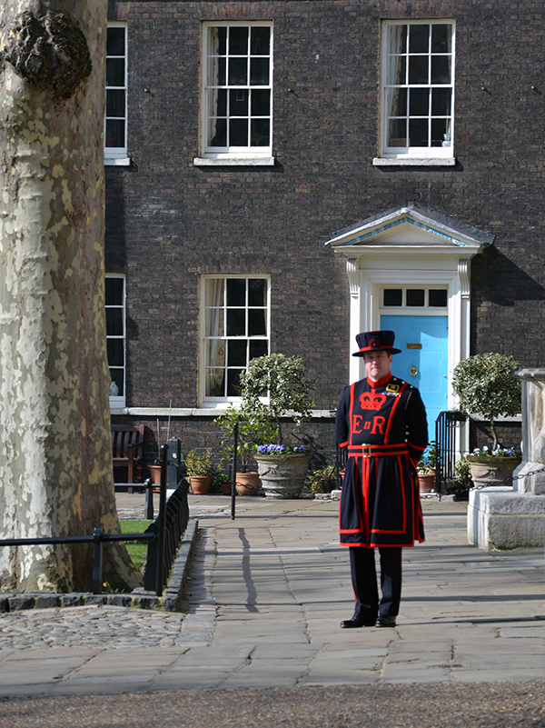 London Tower and a Beefeater