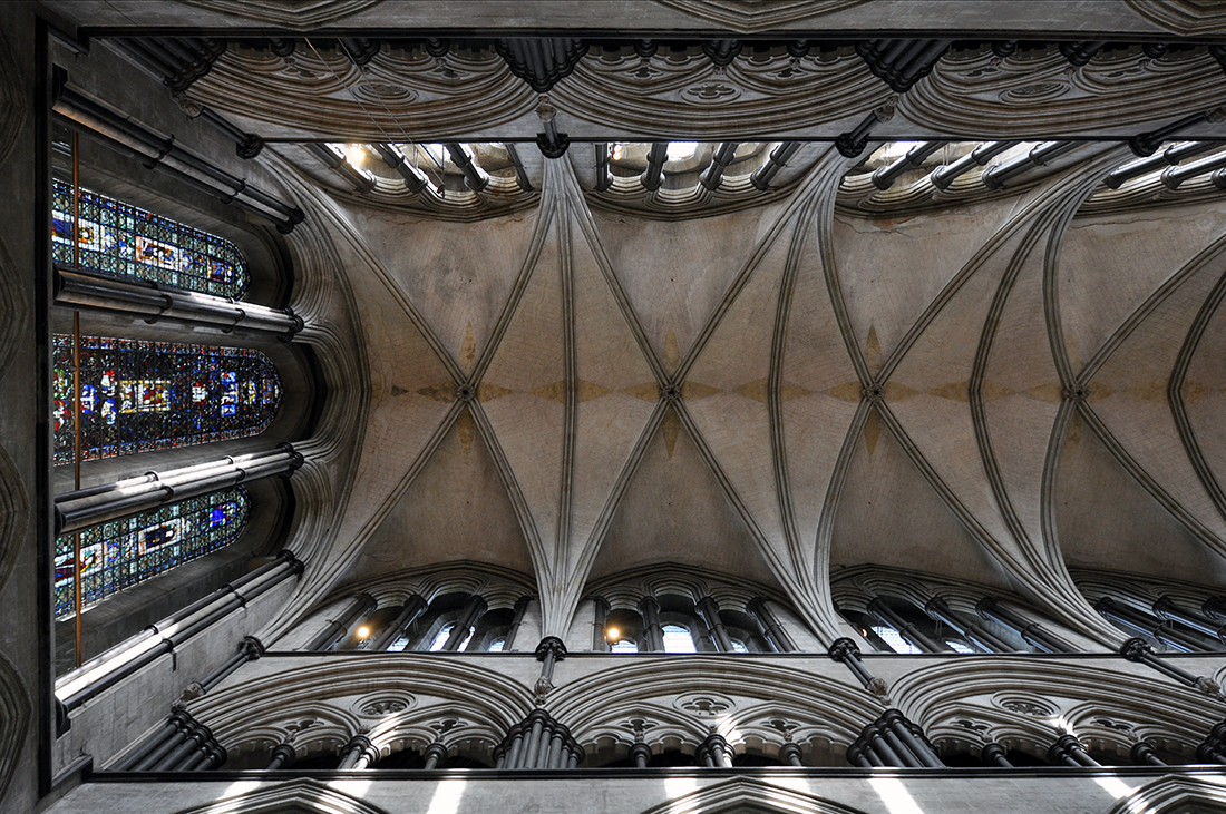 Salisbury Cathedral nave ceiling detail