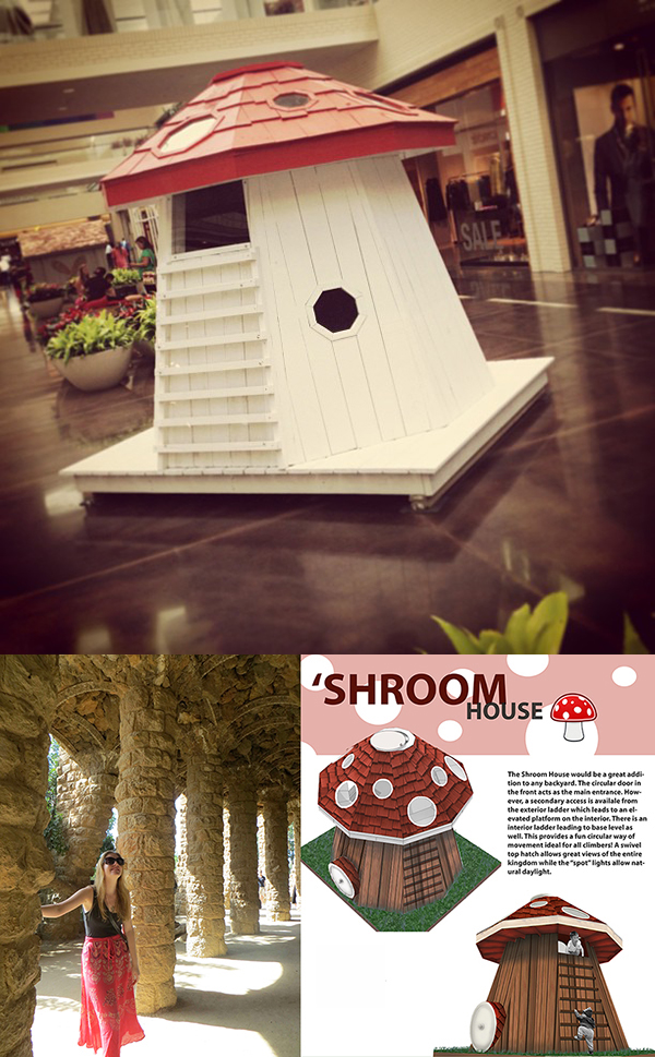 Sarah Fox Shroom House 2013 Life of an Architect Playhouse Design Competition Winner