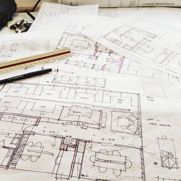 Architectural Sketch plan conversation